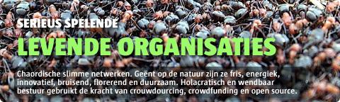 Levende, holacratisch bestuurde chaorganisaties zijn wendbaar en duurzaam.